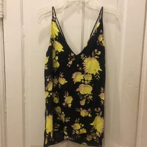 Topshop Strappy Floral Tank